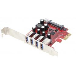 PCIE kort med 4 USB 3.0...