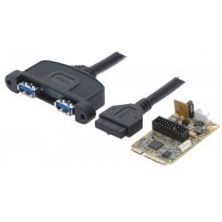 Mini PCIE kort med 2 USB...