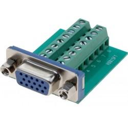 Terminalblok med DB15HD VGA...