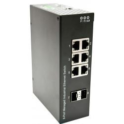 8 ports switch 6 X Gbit...