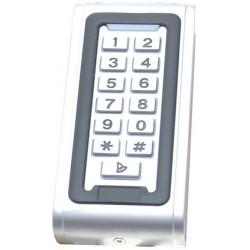 Udendørs kodetastatur med RFID læser. Stand-alone adgangskontrol.  Adgangskontrol med tastatur og RFID
