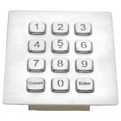 Keypad til RS232 med lys