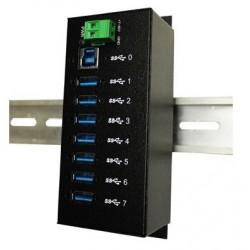 7 ports USB3 hub til DIN...